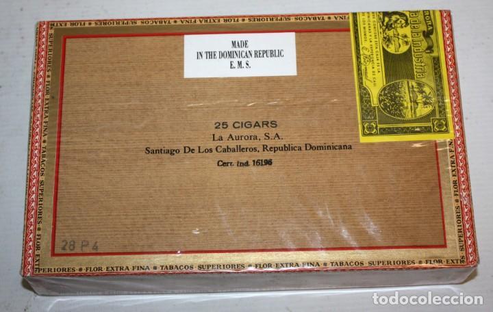 Paquetes de tabaco: CAJA CIGARROS - LA AURORA. REPUBLICA DOMINICANA. SELLADA SIN ABRIR. FABRICA DE TABACOS. CIGARS - Foto 5 - 198723431