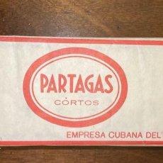 Paquetes de tabaco: CARTON DE TABACO. PARTAGAS CORTOS. EMPRESA CUBANA DEL TABACO. PERFECTO ESTADO. CUBA.. Lote 198772640