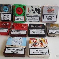 Paquetes de tabaco: CAJAS DE METAL PITILLERAS DE VARIAS MARCAS. Lote 200039863
