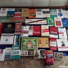 Paquetes de tabaco: LOTE DE 38 PAQUETES DE TABACO Y 5 CAJETILLAS DE CERILLAS. Lote 200894738