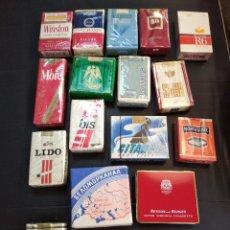Paquetes de tabaco: LOTAZO DE 16 PAQUETES DE TABACO SIN ABRIR. Lote 202533258