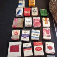 Paquetes de tabaco: LOTAZO DE 22 ANTIGUOS PAQUETES DE TABACO SIN ABRIR. Lote 202535016