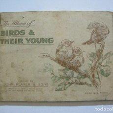 Paquetes de tabaco: THE BIRDS & THEIR YOUNG-JOHN PLAYER & SONS-ALBUM DE CROMOS COMPLETO-TABACO-VER FOTOS-(V-19.907). Lote 203169967