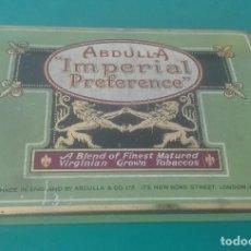 Paquetes de tabaco: CAJA METÁLICA 50 ABDULLA IMPERIAL PREFERENCE. B2. Lote 203490017
