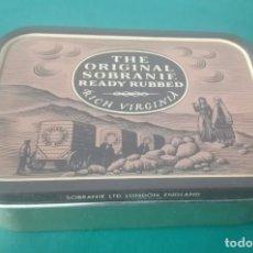 Paquetes de tabaco: CAJA METÁLICA THE ORIGINAL SOBRANIE. B2. Lote 203490565
