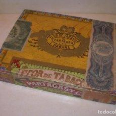 Paquetes de tabaco: CAJA DE MADERA VACIA...FLOR DE TABACOS PARTAGAS...HABANA.. Lote 203594268