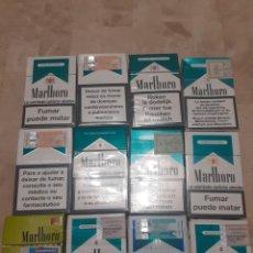 Paquetes de tabaco: LOTE DE 12 CAJETILLAS VACIAS DE MARLBORO MENTOLADO DE DIVERSOS PAISES. Lote 203733496