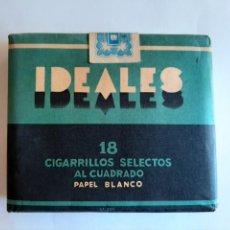 Paquetes de tabaco: PAQUETE DE TABACO MARCA IDEALES. Lote 204326852