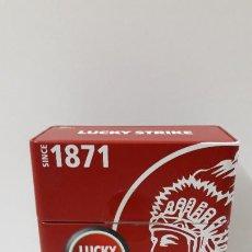 Paquetes de tabaco: CAJA METALICA DE LA MARCA DE CIGARRILLOS LUCKY STRIKE - PARA 10 PAQUETES . ALTURA 18,5 CM. Lote 205354158
