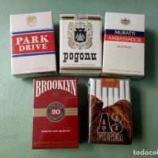 Paquetes de tabaco: 5 ANTIGUOS PAQUETES DE TABACO SIN ABRIR (1 ABIERTO). COLECCION.. Lote 205574613