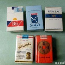 Paquetes de tabaco: 5 ANTIGUOS PAQUETES CON TABACO SIN ABRIR. COLECCION.. Lote 205576281