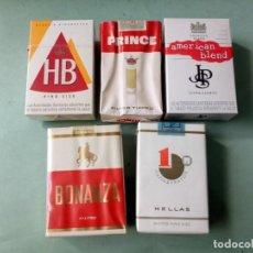 Paquetes de tabaco: 5 ANTIGUOS PAQUETES CON TABACO SIN ABRIR. COLECCION.. Lote 205578256