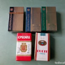 Paquetes de tabaco: 5 ANTIGUOS PAQUETES CON TABACO SIN ABRIR. COLECCION.. Lote 205585173