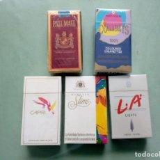 Paquetes de tabaco: 5 ANTIGUOS PAQUETES CON TABACO SIN ABRIR(1 ABIERTO). COLECCION.. Lote 205586860