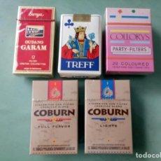 Paquetes de tabaco: 5 ANTIGUOS PAQUETES CON TABACO SIN ABRIR. COLECCION.. Lote 205587472