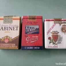 Paquetes de tabaco: 3 ANTIGUOS PAQUETES CON TABACO SIN ABRIR. COLECCION.. Lote 205589516