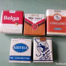 Paquetes de tabaco: 5 ANTIGUOS PAQUETES CON TABACO SIN ABRIR. COLECCION.. Lote 205589728