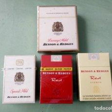 Paquetes de tabaco: 4 ANTIGUOS PAQUETES CON TABACO SIN ABRIR. COLECCION.. Lote 205589820