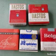 Paquetes de tabaco: 5 ANTIGUOS PAQUETES CON TABACO SIN ABRIR. COLECCION.. Lote 205590435