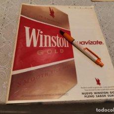 Paquetes de tabaco: PAQUETE TABACO WINSTON GOLD ANUNCIO PUBLICIDAD REVISTA AÑO 1992. Lote 205864410