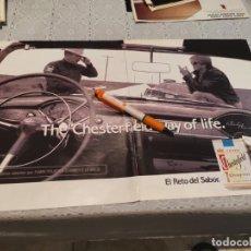 Paquets de cigarettes: PAQUETE TABACO CHESTERFIELD ANUNCIO PUBLICIDAD REVISTA 2 PAGINAS AÑO 1992. Lote 205867366