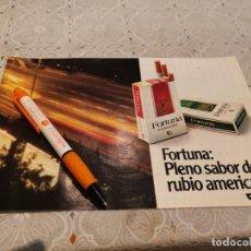 Paquets de cigarettes: PAQUETE DE TABACO FORTUNA ANUNCIO PUBLICIDAD REVISTA 1981. Lote 206286270