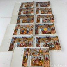 Paquetes de tabaco: 11 MARQUILLAS DE TABACO LA HONRADEZ, AÑO 1866. HABANA. CUBA. NUMERACIÓN CORRELATIVA.. Lote 206909496