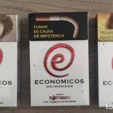 Paquetes de tabaco: LOTE 3 CAJETILLAS DE ECONÓMICOS (MÉXICO) - VACIAS. Lote 206917223