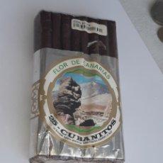 Paquetes de tabaco: FLOR DE CANARIAS 25 -CUBANITOS. Lote 206994782