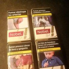 Paquetes de tabaco: (LOTE 13) 4 CAJETILLAS NOBEL STYLE (VACIAS). Lote 207013691