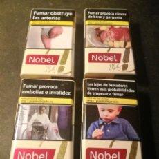 Paquetes de tabaco: (LOTE 14) 4 CAJETILLAS NOBEL STYLE (VACIAS). Lote 207013830
