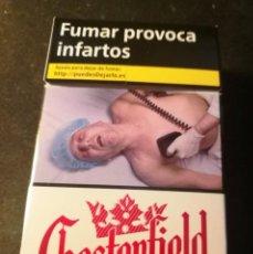 Paquetes de tabaco: CAJETILLA CHESTERFIELD (VACIA). Lote 207015243