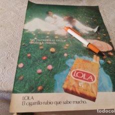 Paquets de cigarettes: PAQUETE DE TABACO LOLA ANUNCIO PUBLICIDAD REVISTA 1976. Lote 207204747
