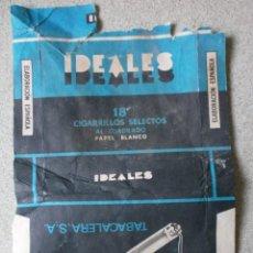 Paquetes de tabaco: CAJETILLA TABACO IDEALES VACIA. Lote 208101050