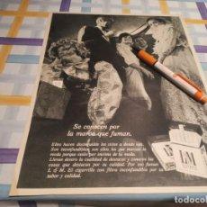 Paquets de cigarettes: PAQUETE TABACO L & M ANUNCIO PUBLICIDAD REVISTA 1968. Lote 209393062