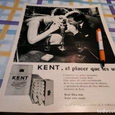 Paquets de cigarettes: PAQUETE TABACO CIGARRILLOS KENT ANUNCIO PUBLICIDAD REVISTA 1967. Lote 210151870