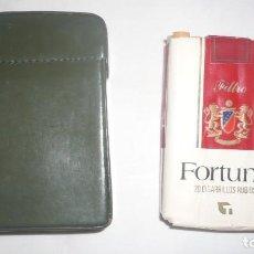 Paquetes de tabaco: ESTUCHE/TABAQUERA VINTAGE DE PIEL. Lote 211918446
