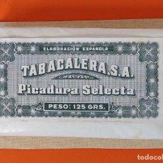 Paquetes de tabaco: PAQUETE, TABACO - TABACALERA, S.A - 125GRS - SIN ABRIR - PEGADO EN UN CARTON DURO ... L1676. Lote 212963681