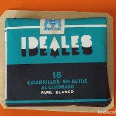 Paquetes de tabaco: PAQUETE, TABACO, CIGARRILLOS - IDEALES - PAPEL BLANCO - SIN ABRIR - PEGADO EN UN CARTON DURO.. L1679. Lote 212964355