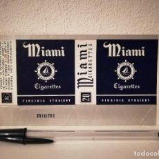 Maços de tabaco: ANTIGUO ENVOLTORIO TABACO - PAQUETE DE TABACO CIGARILLOS MIAMI VIRGINIA FRONTAL. Lote 230789515