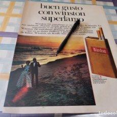 Paquets de cigarettes: PAQUETE TABACO WINSTON SUPERLARGO REVERSO RELOJ OMEGA CHRONOSTOP ANUNCIO PUBLICIDAD REVISTA 1968. Lote 213266203