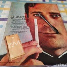 Paquets de cigarettes: PAQUETE TABACO L&M LARGO ANUNCIO PUBLICIDAD REVISTA 1968 POSIBLE RECOGIDA EN MALLORCA. Lote 213275635