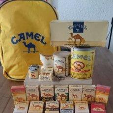 Paquetes de tabaco: LOTE DE 26 PAQUETES DE CIGARRILLOS CAMEL EDICIONES ESPECIALES PRECINTADOS + OBJETOS COLECCIONISTA. Lote 214375873
