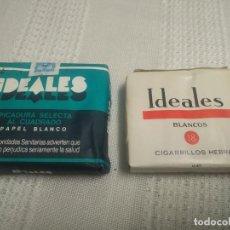 Paquetes de tabaco: 2 PAQUETES DE IDEALES (EL CLÁSICO Y EL BLANCO) A ESTRENAR. Lote 214500137