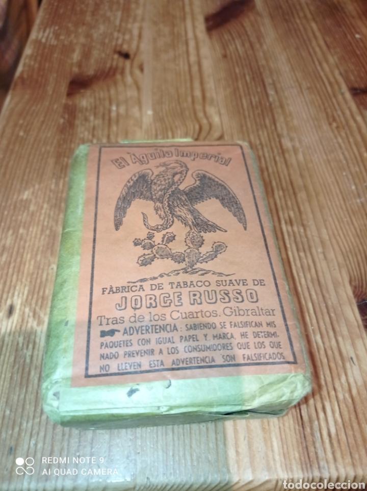Paquetes de tabaco: PAQUETE DE TABACO DE PICADURA EL AGUILA IMPERIAL JORGE RUSSO - Foto 2 - 217396503