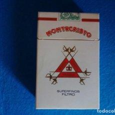 Paquetes de tabaco: CAJETILLA DURA DE CIGARRILLOS DE TABACO VACIA- MONTECRISTO - SUPERFINOS LA HABANA CUBA-AÑOS 80. Lote 217751172