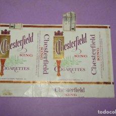 Paquetes de tabaco: ANTIGUO PAQUETE DE CIGARRILLOS TABACO *CHESTERFIELD KING*. Lote 218033521
