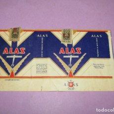 Paquetes de tabaco: ANTIGUO PAQUETE DE CIGARRILLOS TABACO * ALAS * DE CIGARROS EL AGUILA EN MEXICO. Lote 218033706