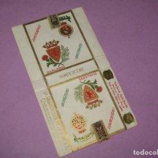 Paquetes de tabaco: ANTIGUO PAQUETE DE CIGARRILLOS TABACO * DELICADOS OVALADOS OBSEQUIO * DE LA TABACALERA MEXICANA. Lote 218033931