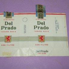 Paquetes de tabaco: ANTIGUO PAQUETE DE CIGARRILLOS TABACO * DEL PRADO TAMAÑO REGIO * DE LA MODERNA DE MEXICO. Lote 218034198